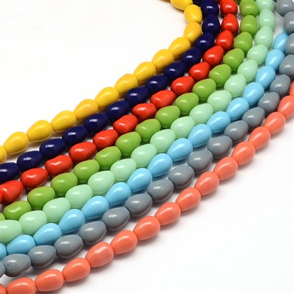 Drop Glass Bead Strands-1