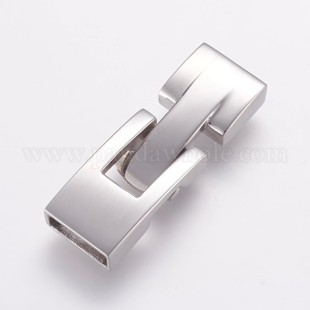 Wholesale 304 Stainless Steel Snap Lock Clasps, Smooth ...