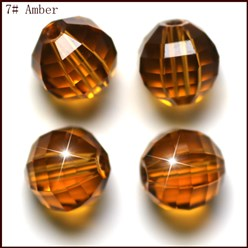Goldenrod Imitation Austrian Crystal Beads, Grade AAA, Faceted, Round, Goldenrod, 10mm, Hole: 0.9~1mm