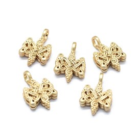 Brass Counter Clips, Buddhist Jewelry Findings, Long-Lasting Plated, Chinese Knot
