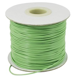 PaleGreen Korean Waxed Polyester Cord, Bead Cord, PaleGreen, 0.8mm; about 185yards/roll