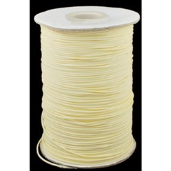 Beige Korean Waxed Polyester Cord, Bead Cord, Beige, 0.8mm; about 185yards/roll