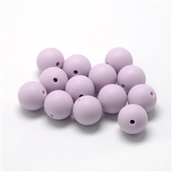 Lilac Food Grade Environmental Silicone Beads, Chewing Beads For Teethers, DIY Nursing Necklaces Making, Bowknot, Lilac, 21x29x10.5mm, Hole: 2mm