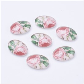 Tempered Glass Cabochons, Oval