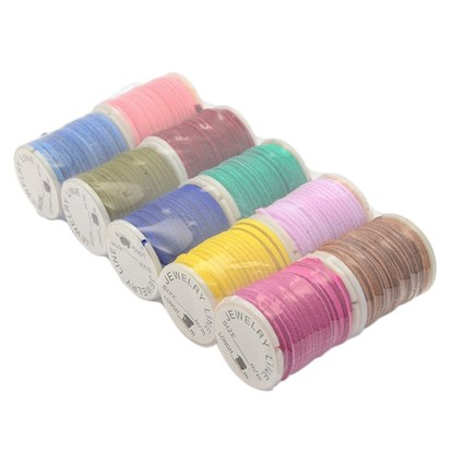 Wool Cord for Jewerly Making, 2x1mm; 10rolls/batch, 3m/roll-1
