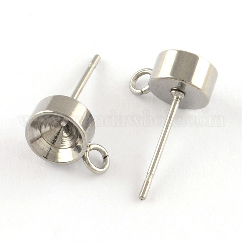 Wholesale stainless steel ear stud components in bulk