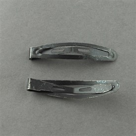 Iron Hair Snap Clip Findings, DIY Material for Hair Clips, Painting, Black, 44x9mm