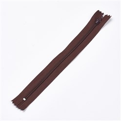 CoconutBrown Garment Accessories, Nylon Closed-end Zipper, Zip-fastener Components, CoconutBrown, 23.5~24x2.5cm