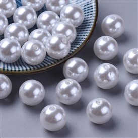 Imitated Pearl Acrylic Beads, Round