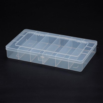 Polypropylene Plastic Bead Storage Containers, 6 Compartments, Rectangle-1
