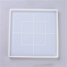 Silicone Cup Mats Molds, Resin Casting Molds, For UV Resin, Epoxy Resin Jewelry Making, Coaster, Square