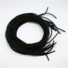 Synthetic Round Solid Rubber Beading Cord, No Hole