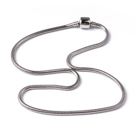 316 Stainless Steel Snake Chain European Style Necklace Makings, with European Clasps