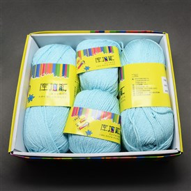 Soft Baby Yarns, with Cashmere, Organic Cotton and Fibre, 2mm; big: 100g/roll, small: 50g/roll, 4rolls/box