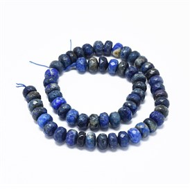 Natural Lapis Lazuli Beads Strands, Faceted, Rondelle