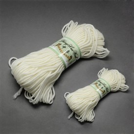 High Quality Baby Knitting Yarns, with Wool and Velvet, 4mm; about 100g/roll: 4rolls; 50g/roll: 2rolls, 6rolls/bag