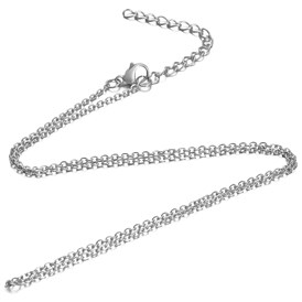 304 Stainless Steel Cable Chain Necklace, with Lobster Claw Clasps