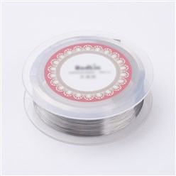 Silver Steel Wire, Silver, 0.15mm; about 500m/roll