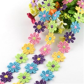 "Flower Polyester Ribbon, for Gift Packing, 1""(26mm)x2mm; about 15yards/bundle(13.716m/bundle)"