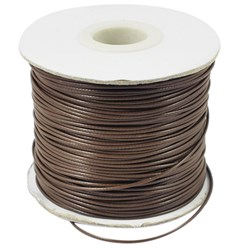 Camel Korean Waxed Polyester Cord, Bead Cord, Camel, 0.8mm; about 185yards/roll