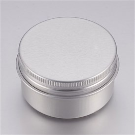 Round Aluminium Tin Cans, Aluminium Jar, Storage Containers for Cosmetic, Candles, Candies, with Screw Top Lip