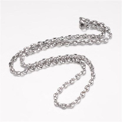 304 Stainless Steel Necklace Makings, Cross Chains, with Lobster Claw Clasps-1