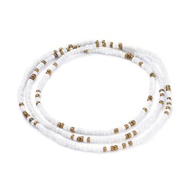 Glass Seed Beads Chain Belts, with Korean Elastic Crystal Thread, for Waist Beads Body Jewelry, Beaded Necklace, Wrap Bracelet, Hair Decoration
