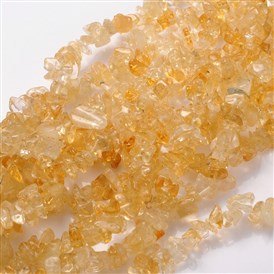 Gemstone Beads Strands, Natural Citrine, Dyed, Yellow