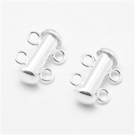 Sterling Silver Slide Lock Clasps