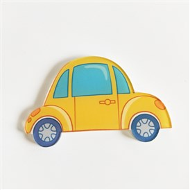 Acrylic Safety Brooches, with Iron Pin, Car