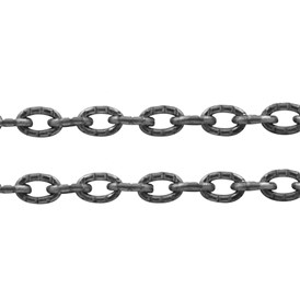 Iron Cable Chains, Unwelded, with Spool, Lead Free, Nickel Color, 4x3x1mm
