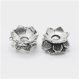 Thai Sterling Silver Double Sided Flower Bead Caps