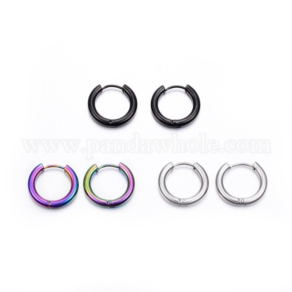 Wholesale 304 Stainless Steel Hoop Earrings In Bulk
