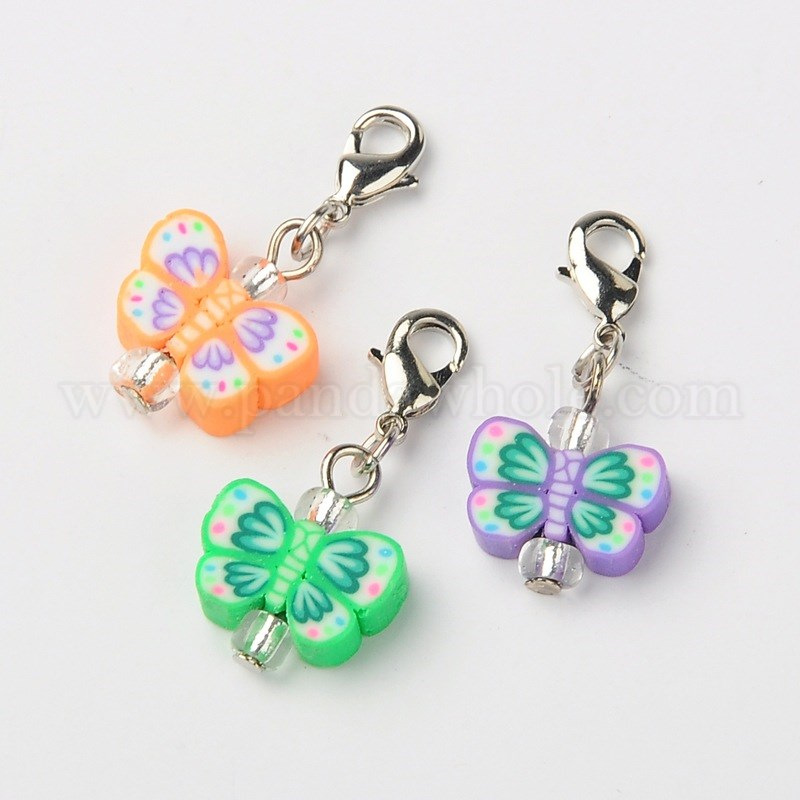 ced0156ee366 China Factory Handmade Polymer Clay Butterfly Pendants