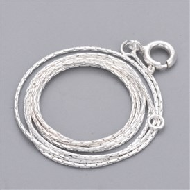 925 Sterling Silver Neckless, Carved 925