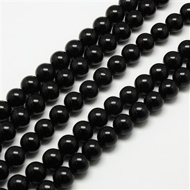 Natural Malaysia Jade Bead Strands, Round Dyed Beads