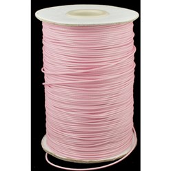 PearlPink Korean Waxed Polyester Cord, Bead Cord, PearlPink, 0.8mm; about 185yards/roll