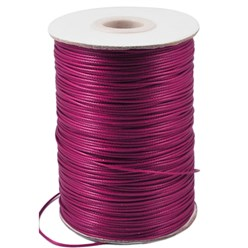 MediumVioletRed Korean Waxed Polyester Cord, Bead Cord, MediumVioletRed, 0.8mm; about 185yards/roll