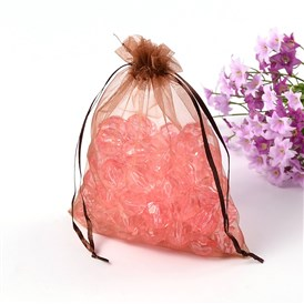 Valentines Day Gifts Packages Organza Bags, with Ribbons, 14x17cm