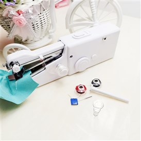 Hand Sewing Machine, Portable Multi-Function Home Assistant, Mini Handheld Cordless Portable Sewing Machines, For Repairing Garment Fabrics Curtains Leather