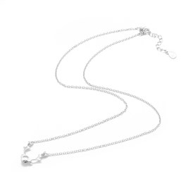 925 Sterling Silver Pendant Necklaces, with Spring Ring Clasps and Cable Chains, For Half Drilled Beads, Carved 925