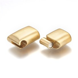 304 Stainless Steel Magnetic Clasps, Rectangle