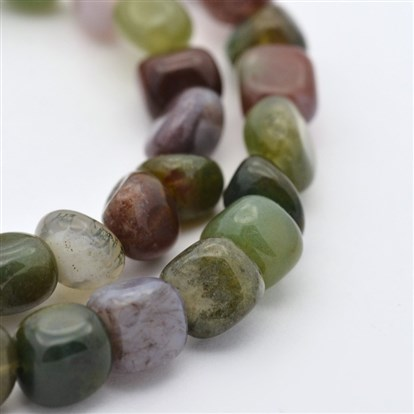 "Natural Indian Agate Bead Strands, 5~7X5~7mm, Hole: 1mm; about 15.7""-1"