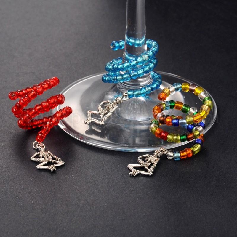 Halloween Handmade Skeleton Wine Glass Charm