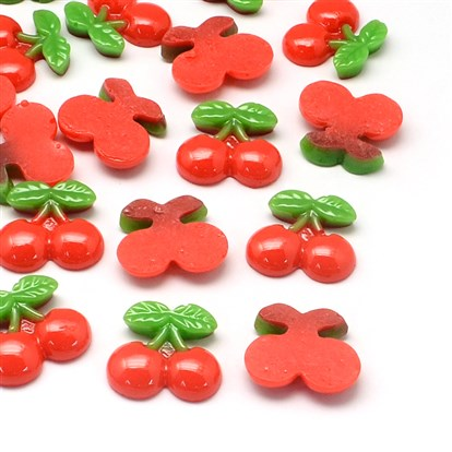 Resin Cabochons, Imitation Food, Cherry-1