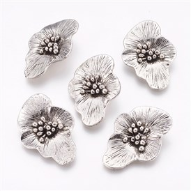 Tibetan Style Alloy Pendants, Flower