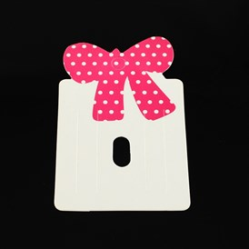 Paper Carboard Hair Clip Display Cards, 79x50mm