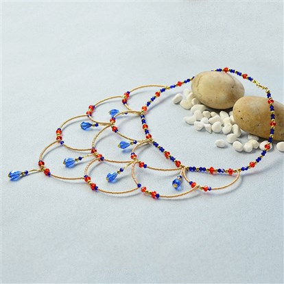 DIY Necklace Kits, Glass and Seed Beads Statement Necklace