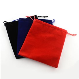 Velvet Jewelry Bag, Rectangle, 17x15cm