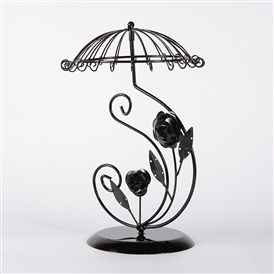 Umbrella with Flower Iron Earring Display Stands, 31x20x20cm